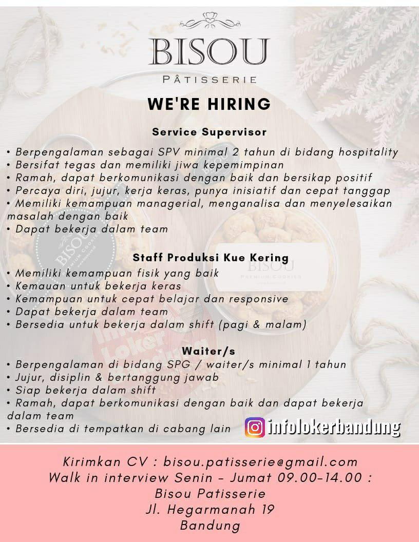 Lowongan Kerja Bisou Patisserie Bandung Juli 2019