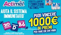 Logo Concorso Actimel '' Fai la mossa giusta'' : vinci 1000 euro in premi per fare ciò che vuoi