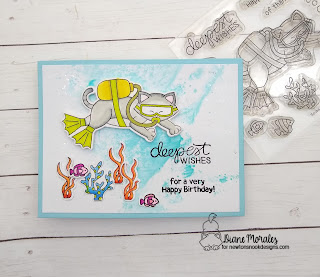 Deepest Wishes a card ny Diane Morales using the Scuba Newton Stamp Set by Newton's Nook Design