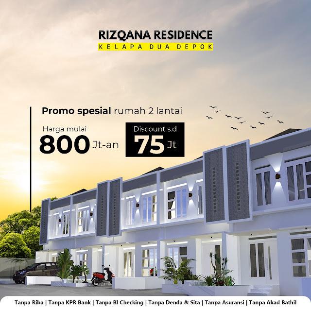 Rizqana Residence Rumah Dijual di Kelapa Dua Depok
