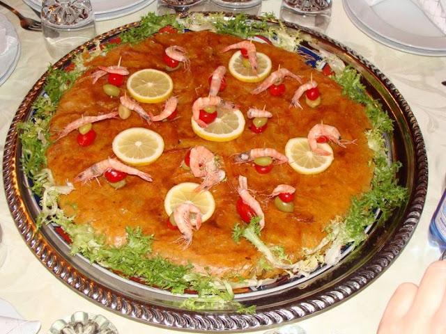 Moroccan traditional  fish pastilla