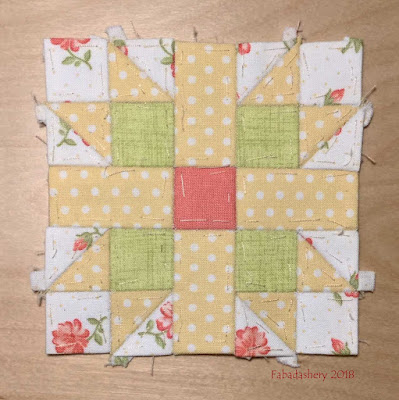 The Farmer's Wife Sampler Quilt (20's)   Block 14 Butterfly at the Crossroads