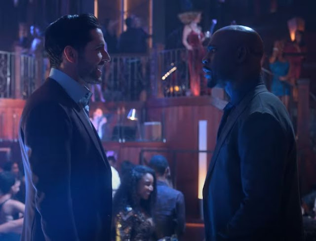 Picture of Lucifer season 5 trailer on Netflix.