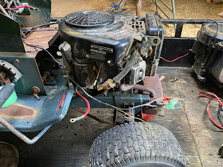 Engine mounted to the frame