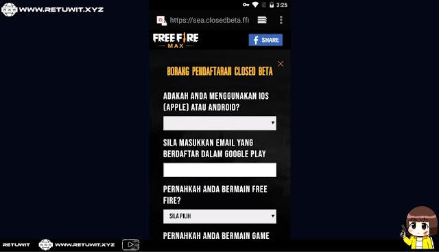 Detail Cara Daftar Free Fire Max 2.0 CBT Dari Region Indonesia