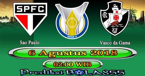Prediksi Bola855 Sao Paulo vs Vasco da Gama 6 Agustus 2018