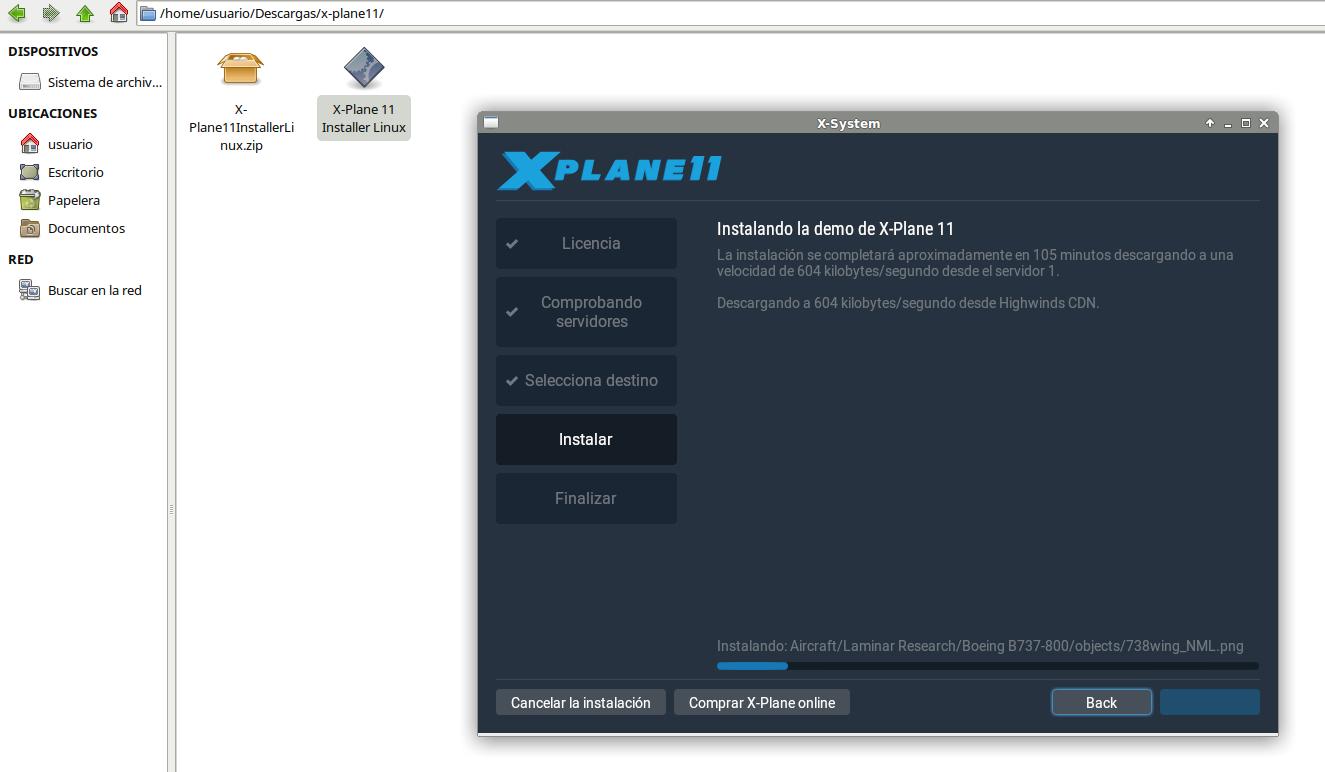Cotidiana Place: Demo de X-Plane 11 en Linux