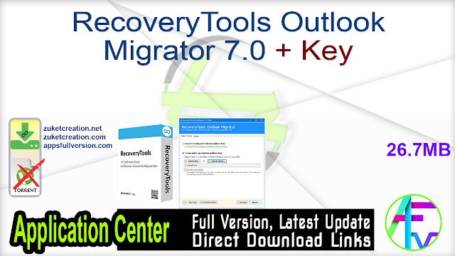 RecoveryTools Outlook Migrator 7.0 + Key