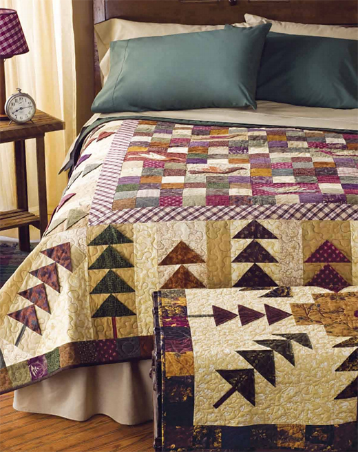 Birds in the Forest Quilt designed by Bev Getschel of FreePatterns