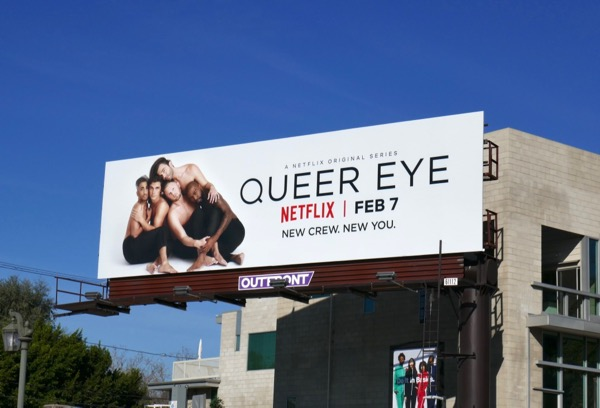 Queer Eye TV remake billboard