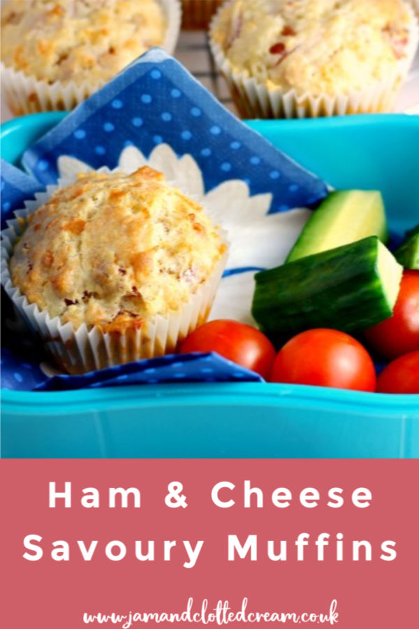 Ham and Cheese Savoury Muffins in lunchbox