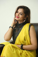 Cute Actress Ashwini in Yellow Saree Exclusive  039.JPG