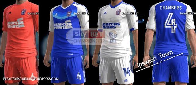 PES 2013 Ipswich Town Kits 2016/17