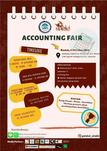 Lomba Akuntansi Accounting Fair Galaksi UIN Syarif Hidayatullah 2019 Mahasiswa Se-Jawa