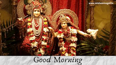 radha krishna good morning image