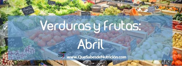 QSN: Verduras y frutas de abril