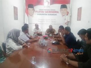 Panitia pendaftaran kandidat F1-F2 Partai Gerindra Kabupaten Sukabumi