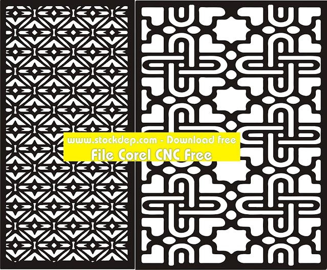 Seamless Monochrome Angular Curved Rectangle Pattern Stock Vector CNC free