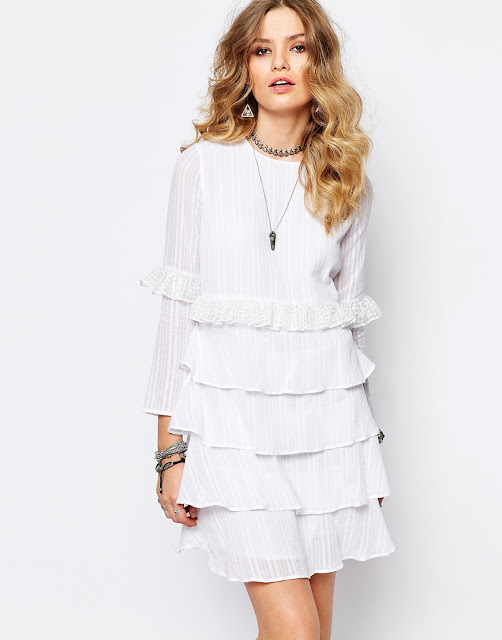 stevie may white frill dress,