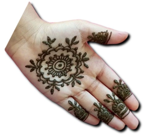 Front Hand Mehndi for Children