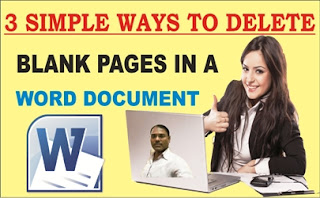 3 Simple Ways to Delete Blank pages in a Word document in Hindi