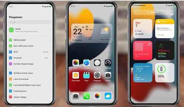 Tema iOS 15/ iPhone 15 Untuk Realme