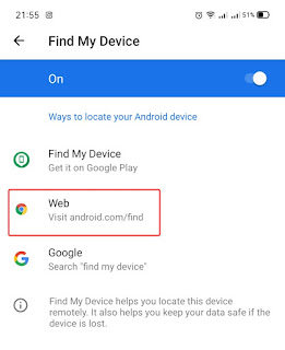 Find my Device via Web