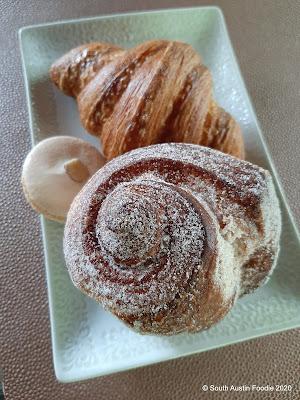 La Patisserie morning bun, croissant, almond macaroon