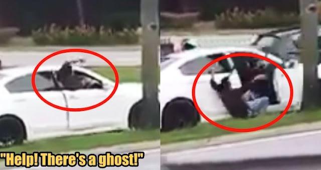 Masih Mengemudi, Pria Ini Tiba-tiba Teriak Dan Keluar Dari Mobil Karena Melihat Hantu Didalam Mobilnya