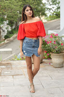 Rhea Chakraborty in Red Crop Top and Denim Shorts Spicy Pics ~  Exclusive 249.JPG