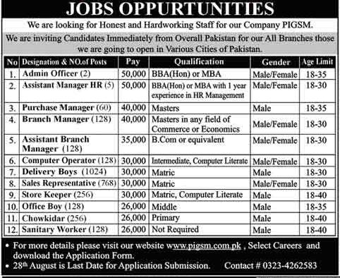 Pak Iza Groceries Standard Marts Jobs 2021 (3011 Vacancies)