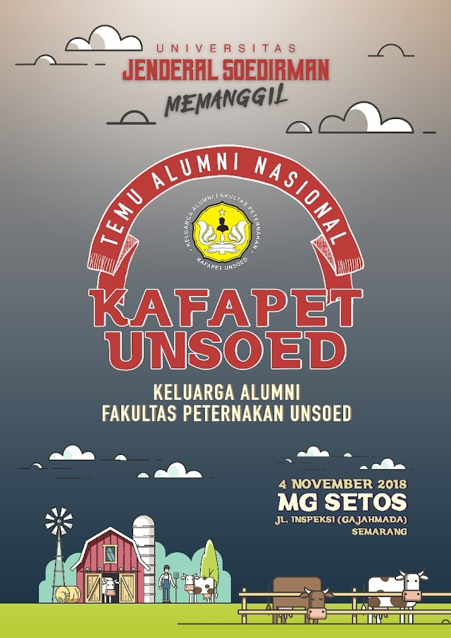 Temu Alumni Kafapet Unsoed 4 November 2018 Pindah ke Hotel MG Setos Semarang