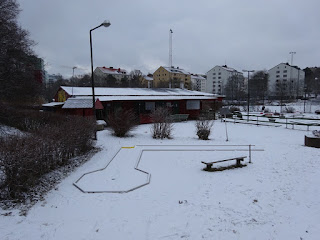 The NIFO Steel Minigolf course at Solna Bangolfklubb