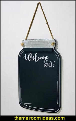 Welcome Yall Wall Mounted Chalkboard industrial farmhouse wall decor