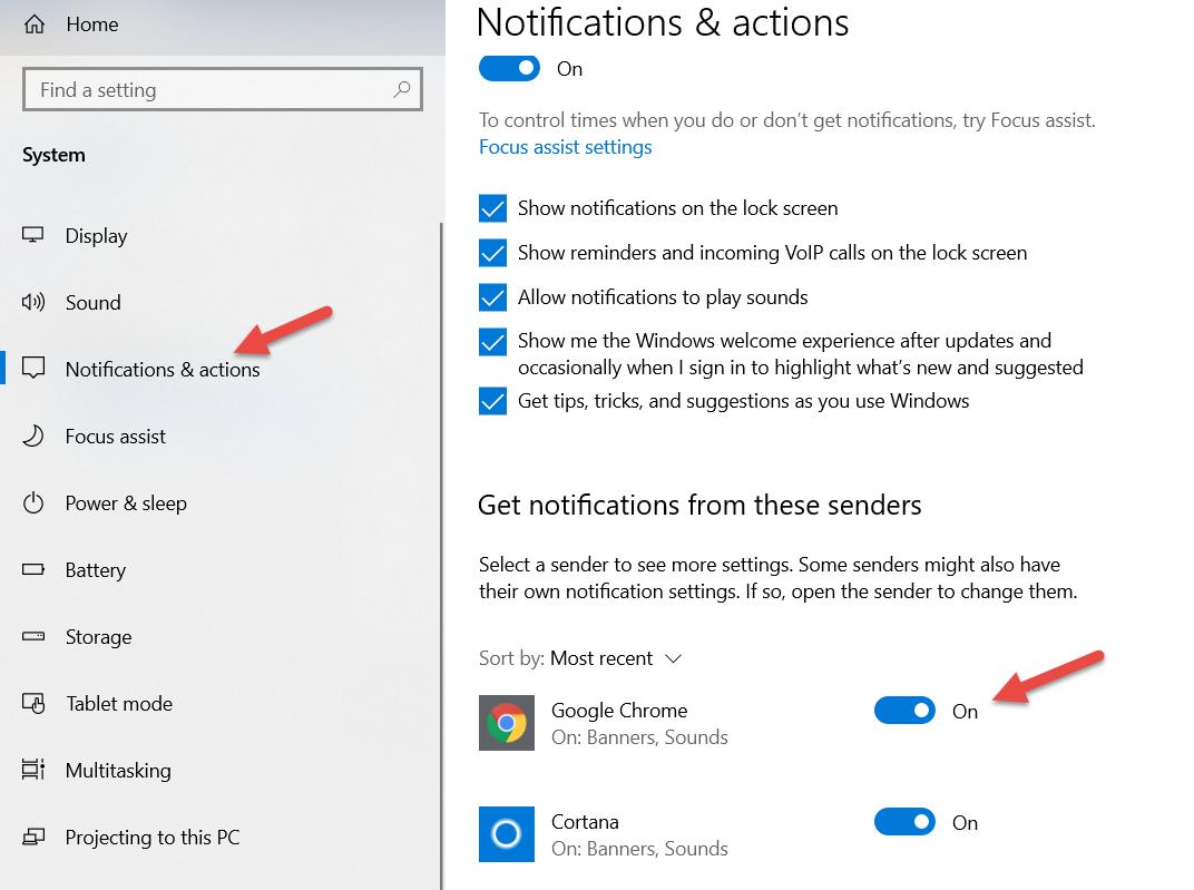 Cấp quyền thông báo cho trình duyệt Google Chrome trên Windows 10, Windows 11