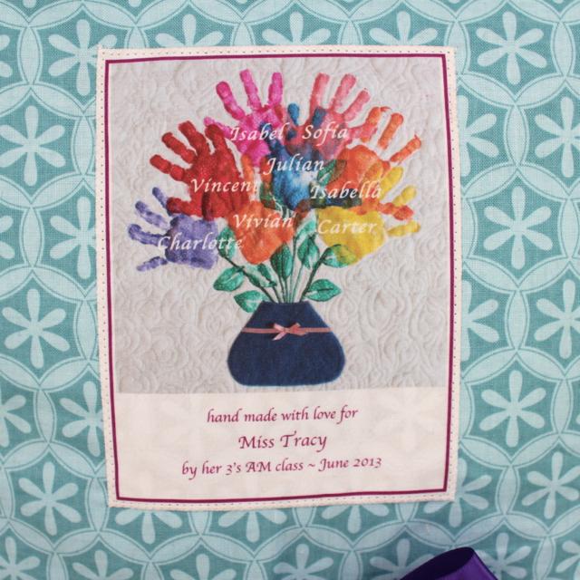 Rachael Rabbit Teacher Appreciation Gift Hand Print Pillows