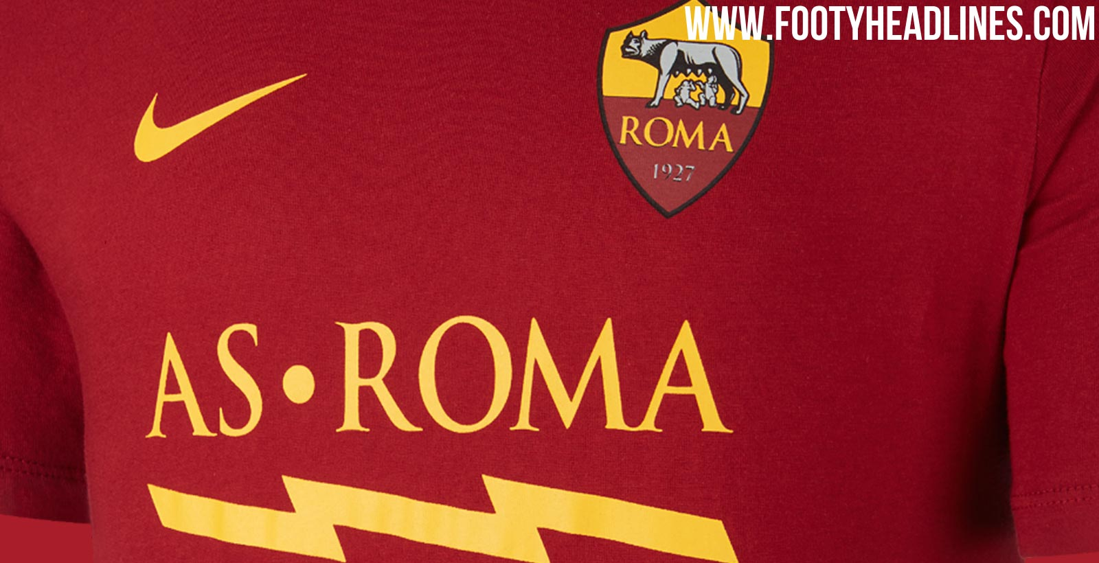New Nike Style - Nike AS Roma 19-20 Kit T-Shirt Leaked