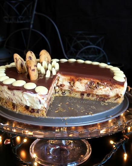 sernik ciasteczkowy z czekoladą