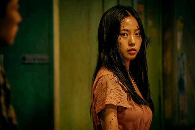 Bailarina coreana ensangrentada