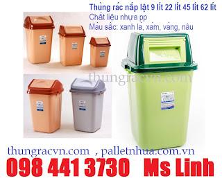 Thùng rác lật