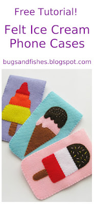 felt ice cream phone cases tutorial
