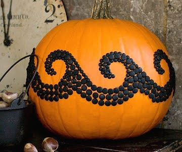 decorated pumpkin idea with waves