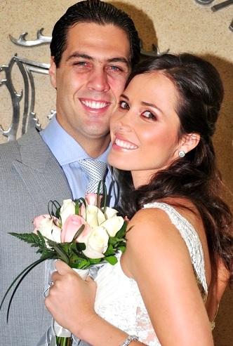 Foto de Maju Mantilla con su esposo