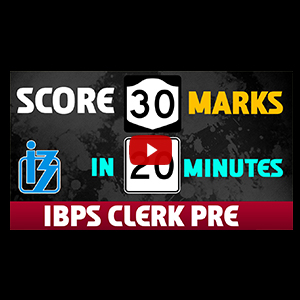 Score 30+ Marks In 20 Minutes | Reasoning | IBPS Clerk Pre 2017