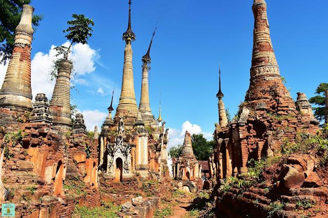 Shwe Indein Pagoda, lago Inle