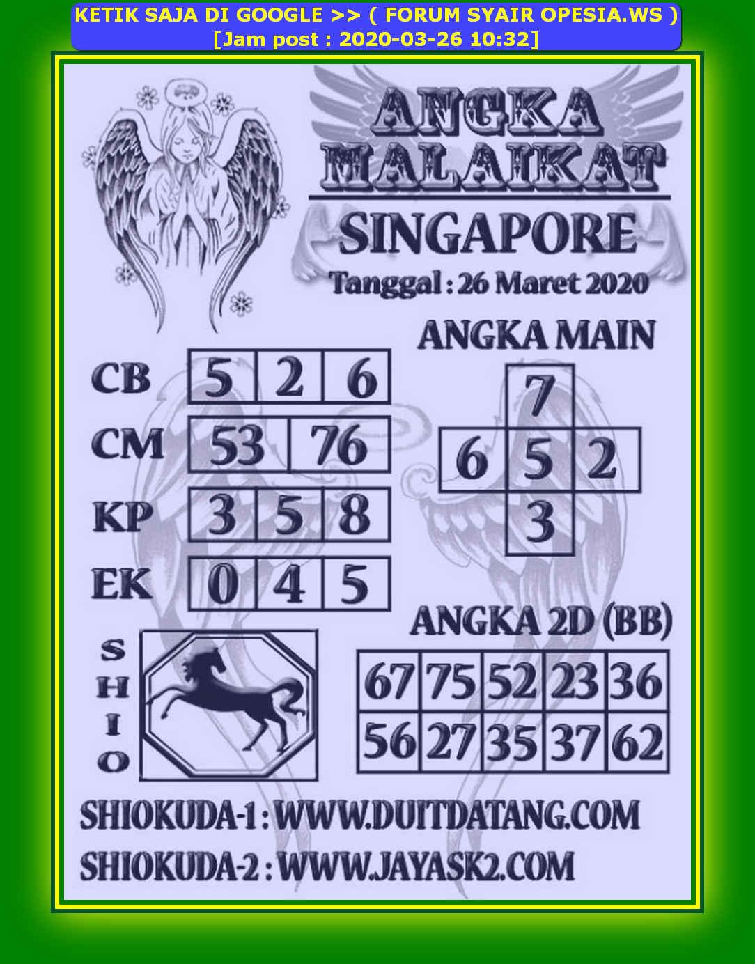 PREDIKSI singapore sgp OPESIA