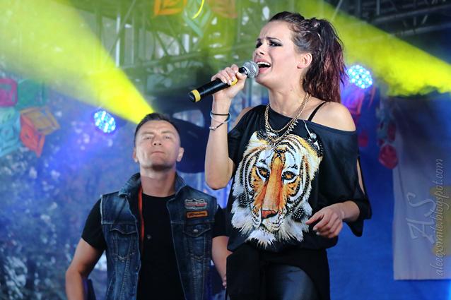 Natalia Szroeder i Liber - duet, koncert Strzelin 6.09.2014