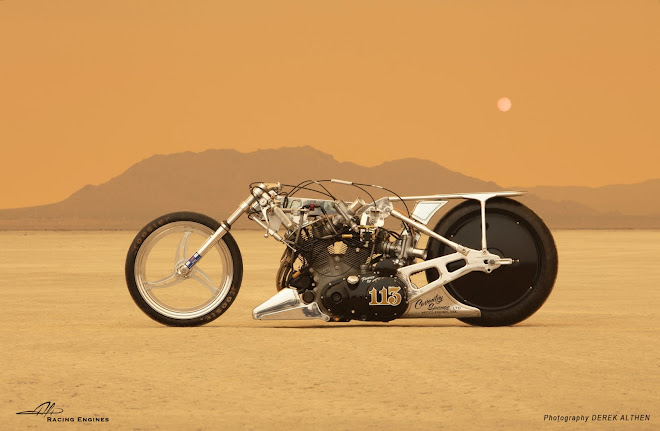 Alp Racing & Design Vincent Landspeed Racer at El Mirage, September 2020 - Photo by Derek Althen