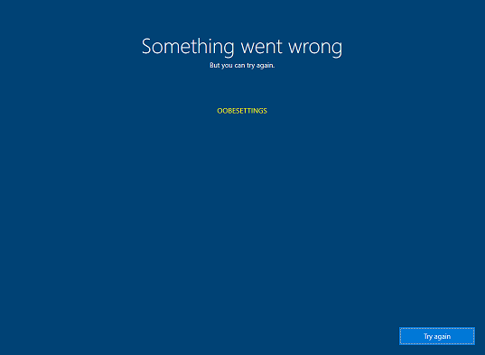 Fix: OOBE Error in Windows 10