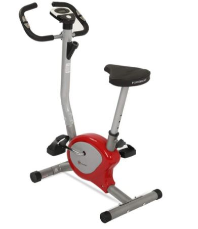 PowerMax Fitness BU-200 Exercise Upright Bike for Home Gym